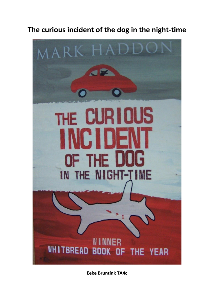 the curious incident of the dog in the night- time essay The curious incident of the dog in the night-time:  – curious – incident – dog – night-time the example below shows you the sort of thing you might do.