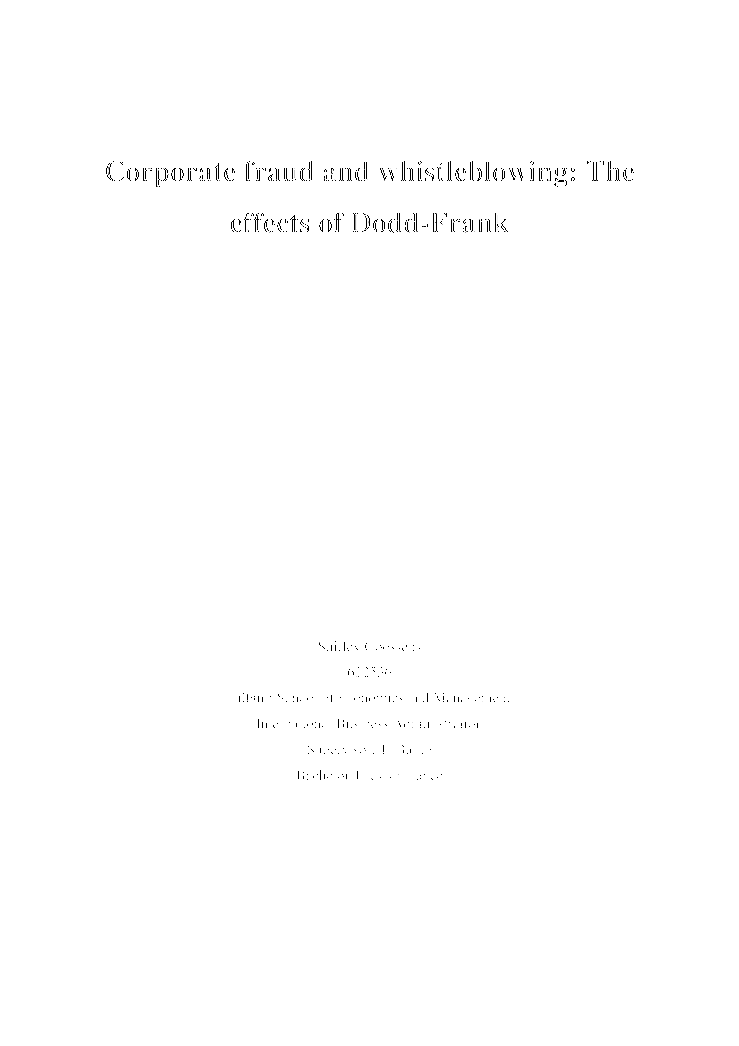 Research paper about banking and finance