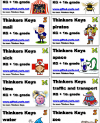 Thinkers keys Kindergarten and 1th grade