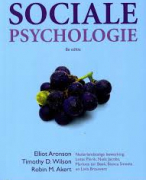 Samenvatting 'Sociale psychologie'
