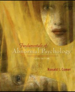Samenvatting Fundamentals of Abnormal Psychology