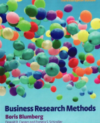 Summary Business Research Methods