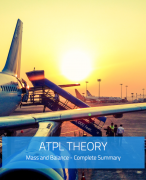 ATPL Theory - Mass and Balance Summary