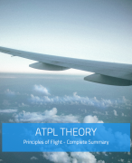 ATPL Theory - Principles of Flight Summary