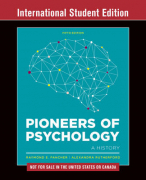 Samenvatting Pioneers of Psychology H11-16 Fancher & Rutherford