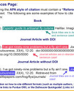 How to reference using APA style
